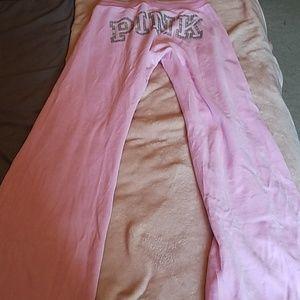 Velvet Wide Leg Sweatpants